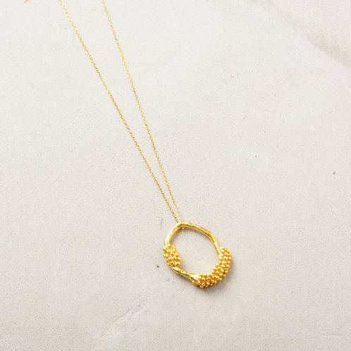 Seeds on Oval Necklace
