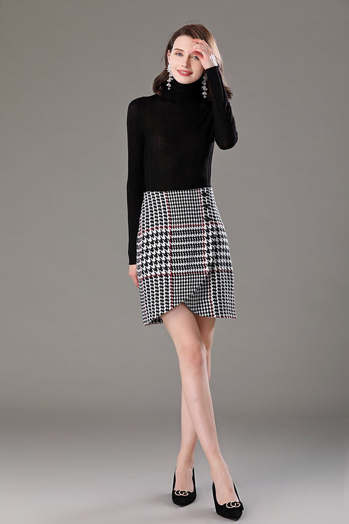 Charis Houndstooth Skirt