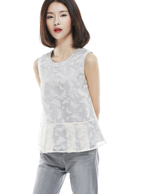 Rosio Butterfly Organza Top