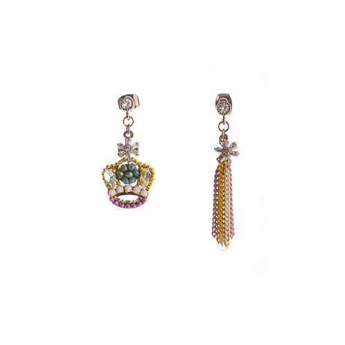 Crown and Tassel Earrings