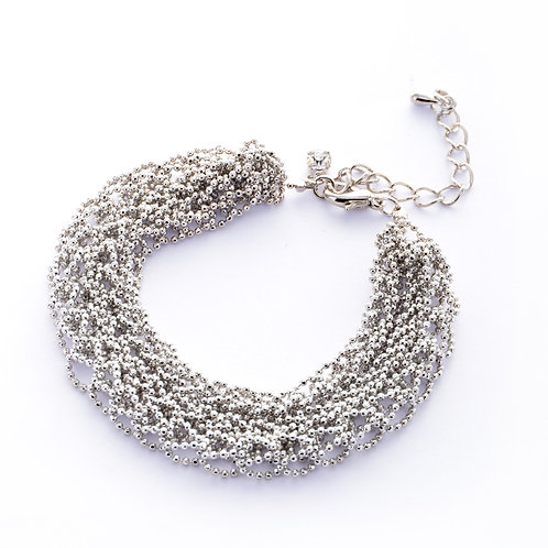 Lace Statement Bracelet - Silver