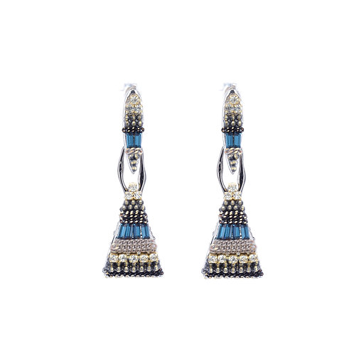 Elegant Crystal Handbag Earrings