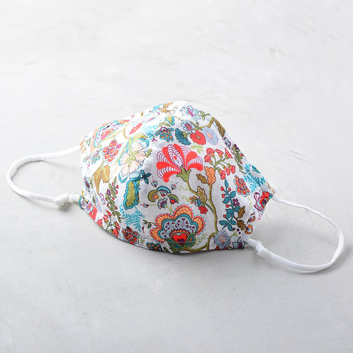 2-Layer Fabric Mask -Flower