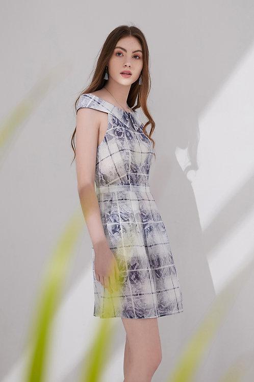 Elena Checked Slip Dress