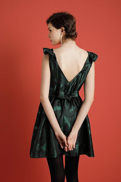 Clasrissa Ribbon Tie Dress