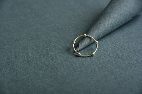 Dot in a Circle Silver Ring