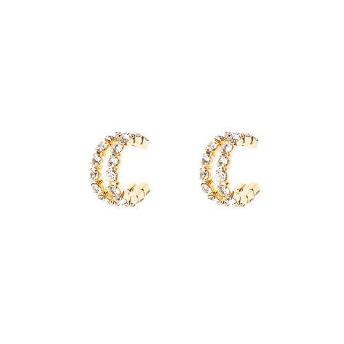 Queen Crystal Curve Earrings