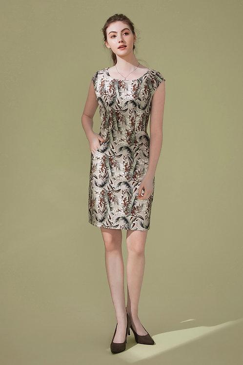 Bernice Feather Printed Dress