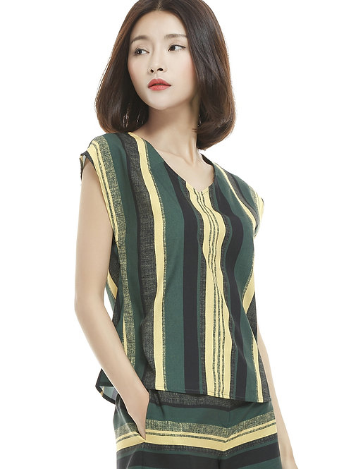 Tennie Stripe Brush Top