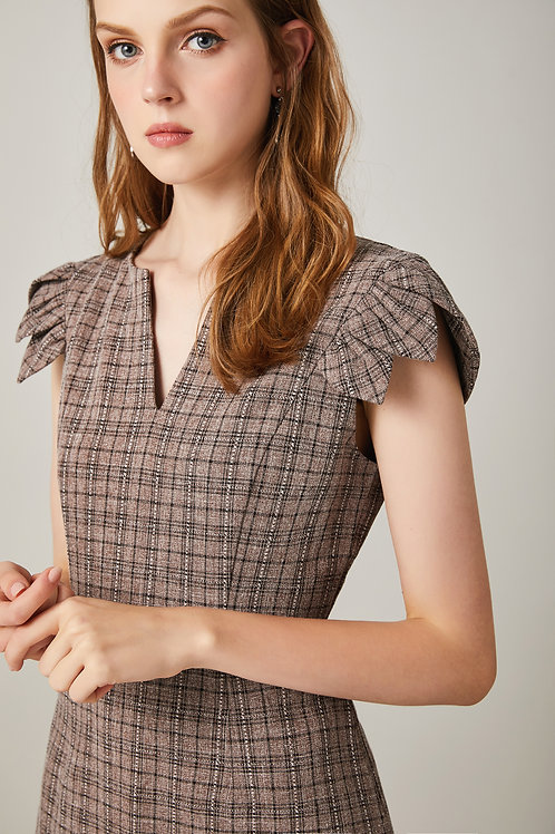 Amber Petal Sleeve Dress