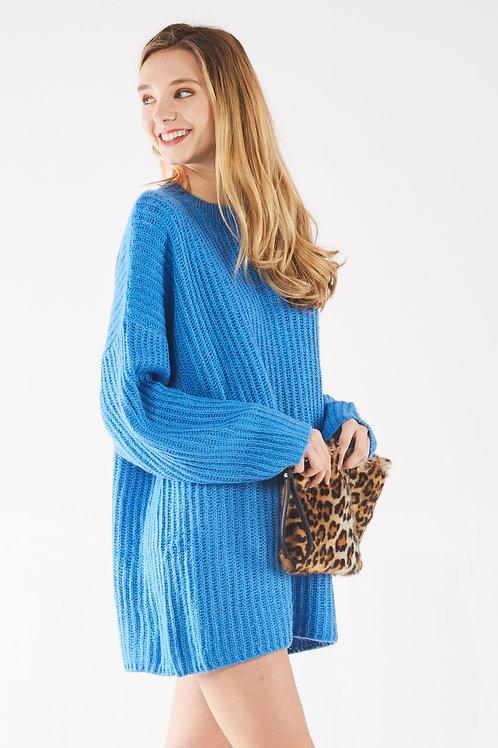 Bright Blue Sweater Dress
