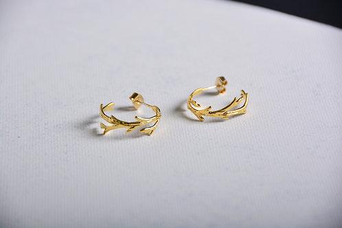 Curl Up Leafy Earrings