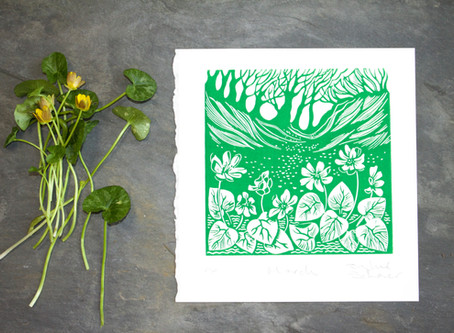Making a print for March