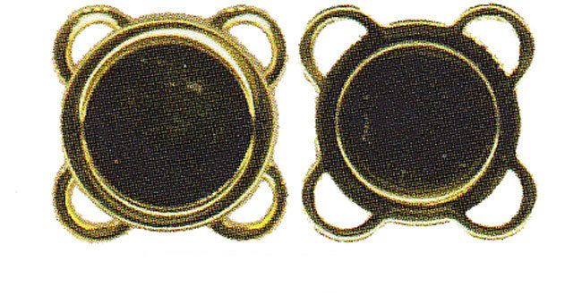 Magnetic Closures - Sew-On - Antique Gold (4 per pack)