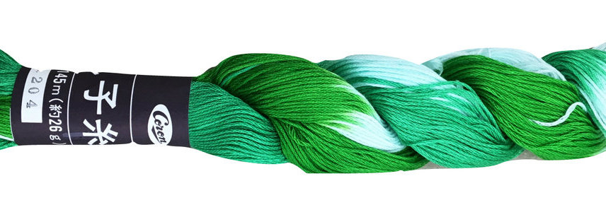Coron Sashiko Thread Shaded - Rainforest Green (1 skein)