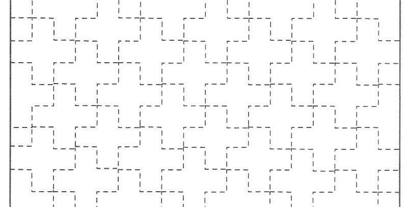 H-SS8/SS208 - Sashiko Sampler - Linked Ten Crosses