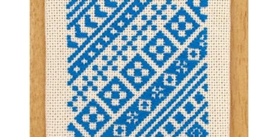 Kogin Coaster Kit Bright Blue (K-28) x 3
