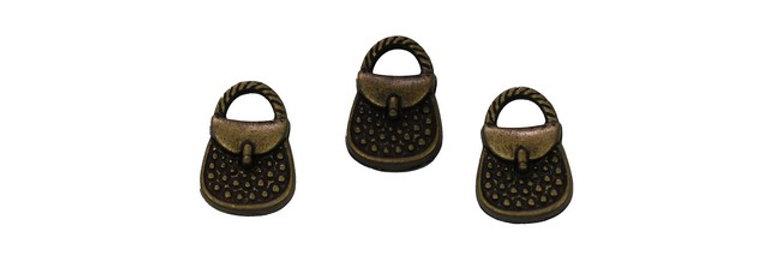 Metal Zip-Pulls Bag (pack of 3) (FK-19)
