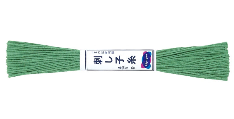 Olympus Sashiko Thread 20m ST-7 Green (6 skeins)
