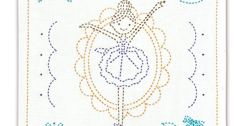 Sashiko Sampler Kit - Shinzi Katoh Ballerina Swan Lake