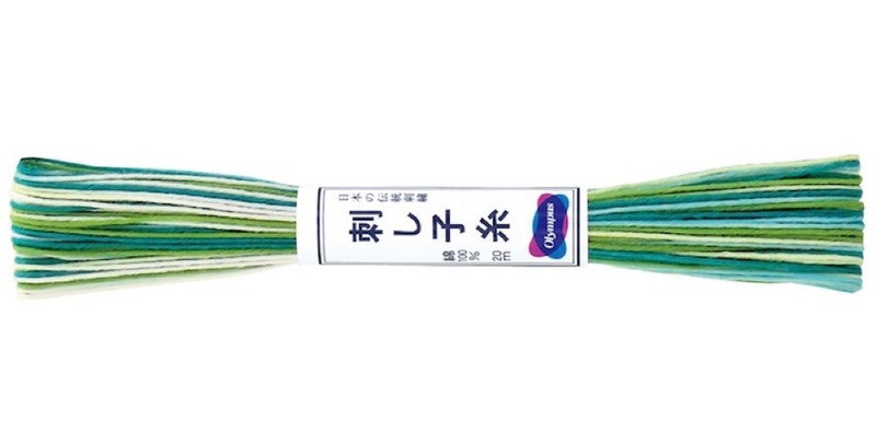 Olympus Sashiko Thread Variegated 20m ST-51 (6 skeins)