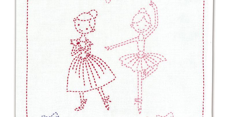 Sashiko Sampler Kit - Ballet lesson (SK-340) x3