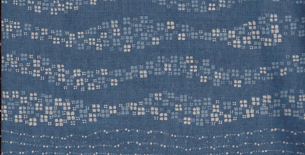 Takumi Floral Waves - Blue (5 metres)