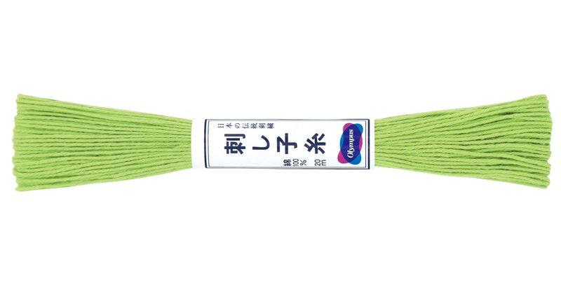 Olympus Sashiko Thread 20m ST-6 Lime Green (6 skeins)