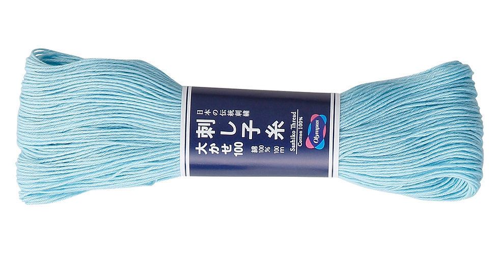 Olympus Sashiko Thread 100m ST-108 Light Blue (3 Skeins)