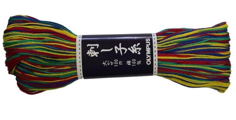 Olympus Sashiko Thread 100m Variegated ST-173 (3 skeins)
