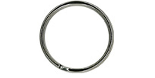 Split-Ring Silver Colour ~ 30mm (4 per pack) (AK-63-30S)