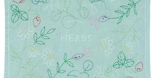 Sashiko Herbs Placemat L-4001