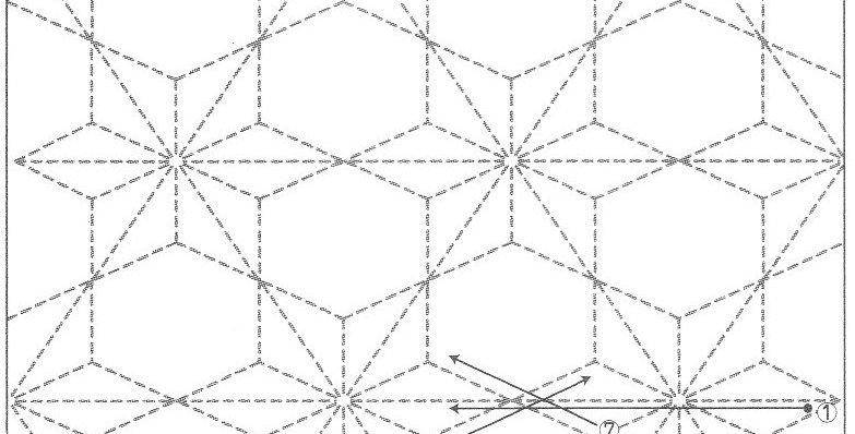 H-SS10/SS210 - Sashiko Sampler - Asanoha with Hexagons