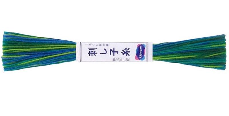 Olympus Sashiko Thread Variegated 20m ST-77 (6 skeins)