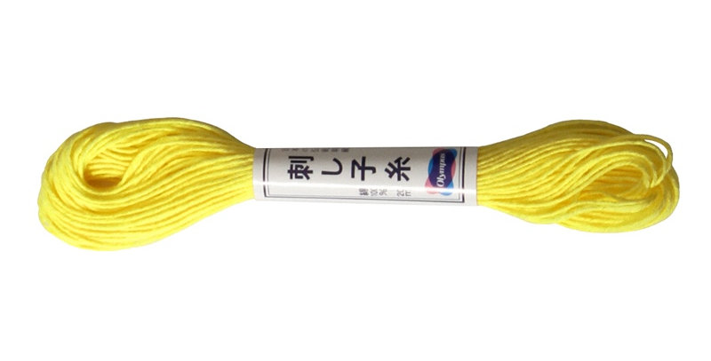 Olympus Sashiko Thread 20m ST-29 Bright Yellow (6 skeins)