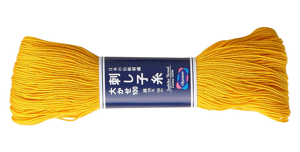 Olympus Sashiko Thread 100m ST-111 Sunshine Yellow (3 Skeins)