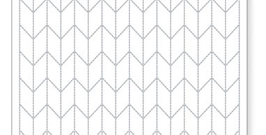 Sashiko Sampler Placemat - Arrows (L-1002)