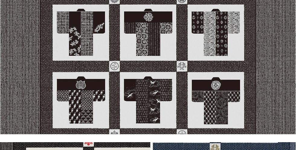 Takumi Kimono Panel - Indigo (7 panel bolt)