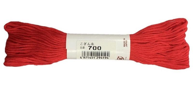 Kogin Thread 18mt - Fluro Red (pack of 3)