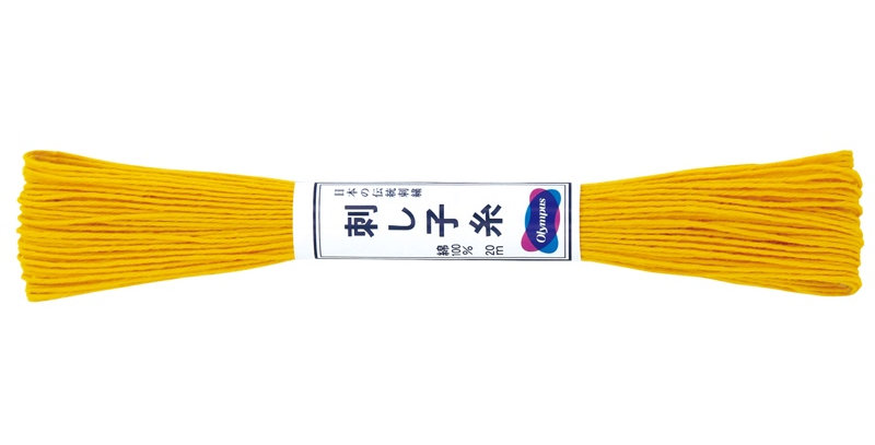 Olympus Sashiko Thread 20m ST-16 Yellow (6 skeins)