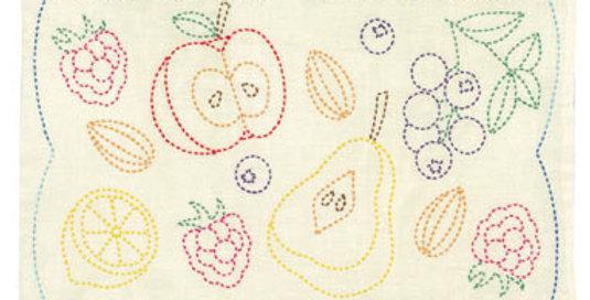 Sashiko Sampler Placemat - Fruits (L-6001)