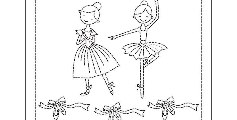 H-1041 - Sashiko Sampler - Ballerina Lesson