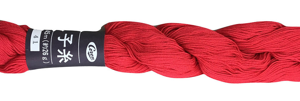Coron Sashiko Thread - Bright Red (per skein)