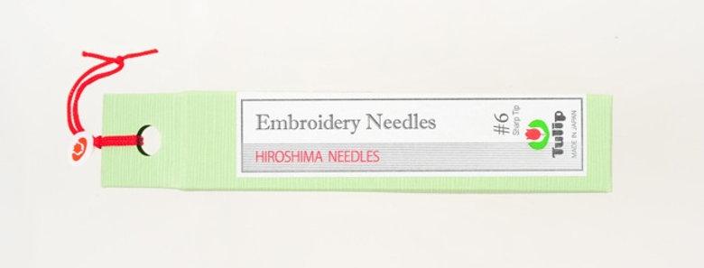 Tulip Embroidery Needles #6 Sharp Tip (6 packs per box)