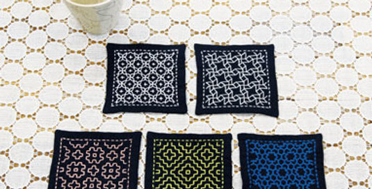 One Stitch Sashiko Coaster Kit SK-331