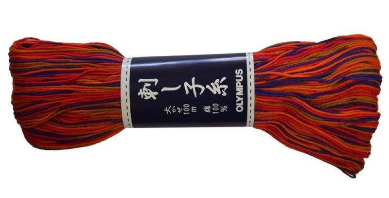 Olympus Sashiko Thread 100m Variegated ST-174 (3 skeins)