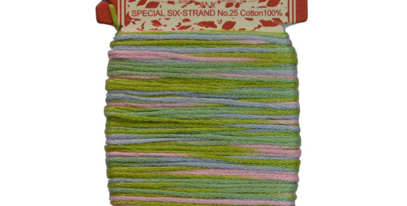 Embroidery Thread  - Multi Color Mix (12mt) ET-M2 (pack of 3)