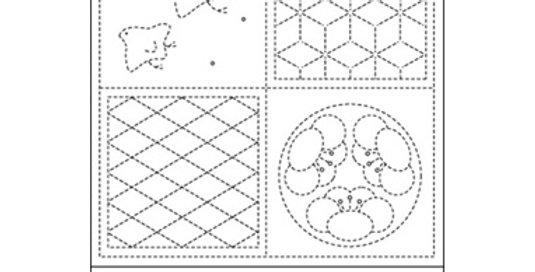 H-SS54/SS654 - Sashiko Sampler - 4 tiles