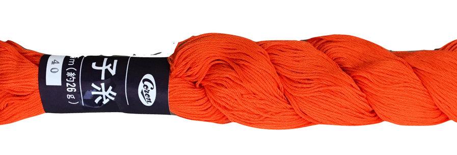 Coron Sashiko Thread - Bright Orange (per skein)