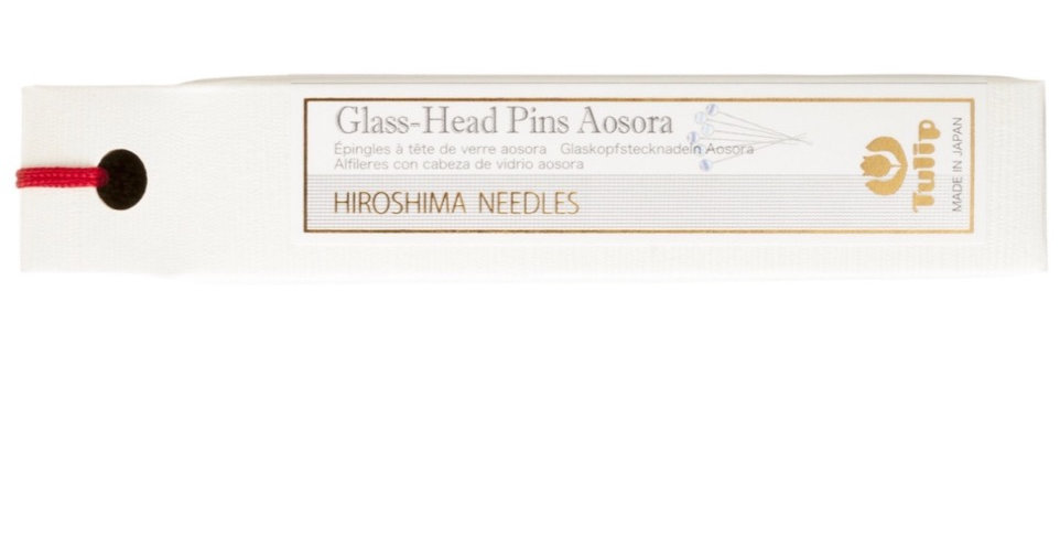 Glass-Head Pins Aosora Tulip 6pk/box